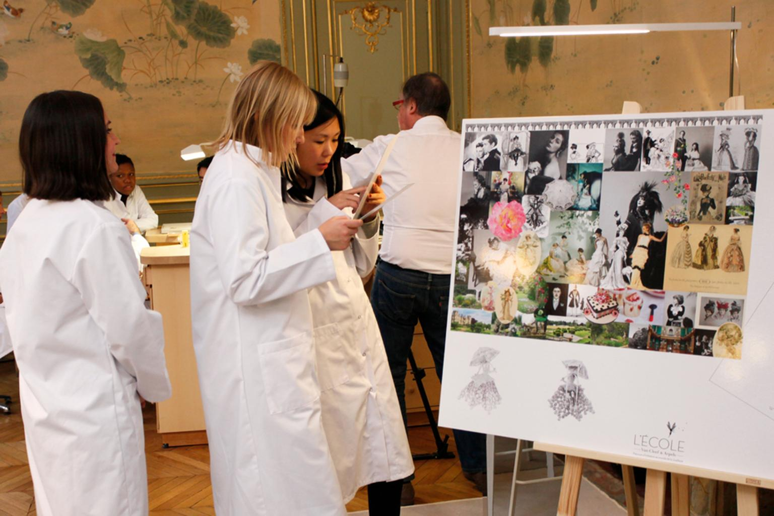 Students of L'École Van Cleef & Arpels learn of jewellery