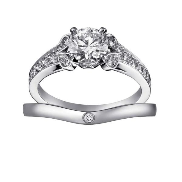 Ballerine Diamond Wedding Band In Platinum Cartier
