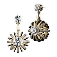 Alexandra Mor yellow gold Dangling Snowflake earrings with