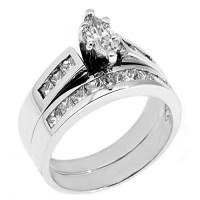 WOMENS PLATINUM MARQUISE CUT DIAMOND ENGAGEMENT RING ...