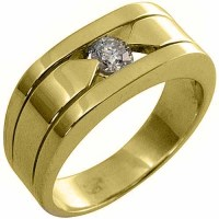 MENS .40 CARAT SOLITAIRE ROUND DIAMOND RING WEDDING BAND ...