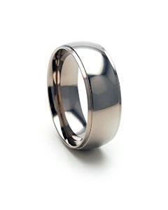 High Shine Mens Titanium Wedding Rings 8mm Band