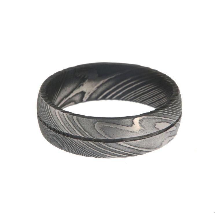 Damascus Steel Rings For Men USA Made Damascus Bands Black