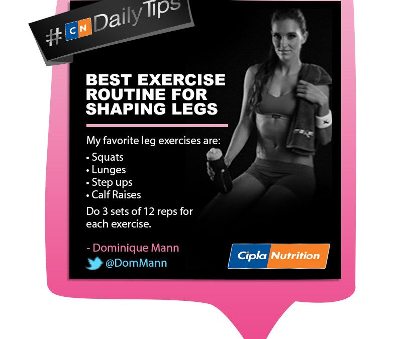 Cipla Nutrition Daily Tips feat Dominique Mann