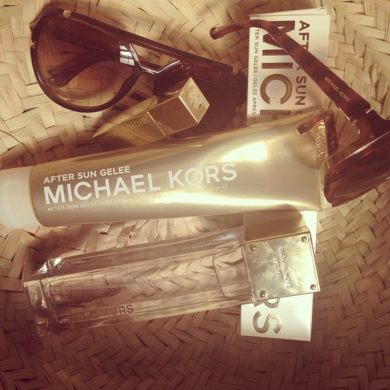 What's in my Michael Kors Summer Bag:  Michael Kors Sunglasses available at Mellins Canal Walk.  Michael Kors aftersun Gelee and Lip Balm as well as my favie Michael Kors Sport Fragrance