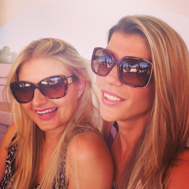 I am wearing gorgeous #Michaelkorseyewear available at Mellins Canal Walk and I am with crazy-ass beauty editor Friend Leigh you all might know her she also writes a very cool beauty blog called www.lipglossismylife.com