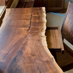High Top Kitchen Tables Cabinets Pulls Live Edge Desk With Hairpin Legs | The Joinery