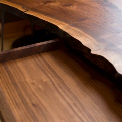 Kitchen Table Legs Buy Metal Cabinets Live Edge Desk With Hairpin | The Joinery