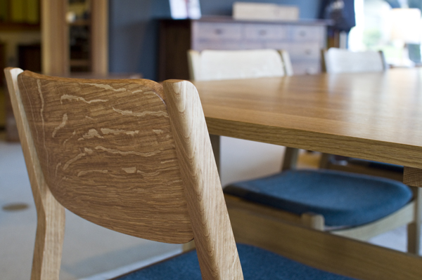 oak and white dining chairs upholstered swivel set in quarter the joinery whitman chair quartered
