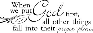 Randall Daluz Put God First