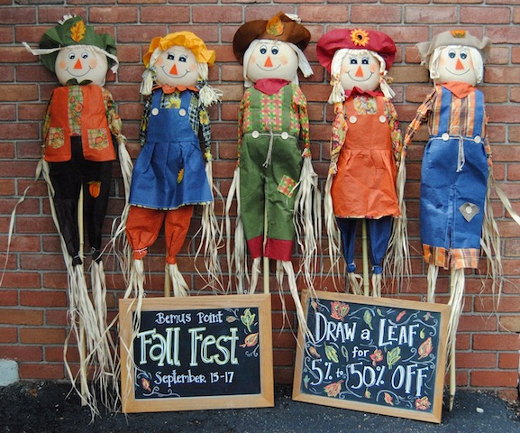 Scarecrows in Bemus Point, New York