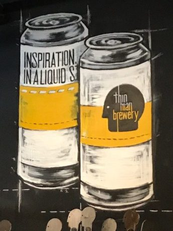 Thin Man Brewery cans from the brew pub
