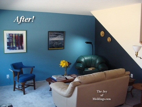 how to paint a living room blue