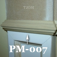 necking trim molding for entablature or plinth blocks