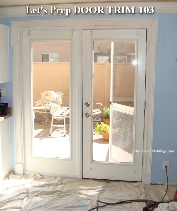 white paint on moldings
