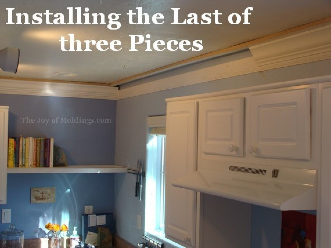 Kitchen Crown Molding Installation: The Last Piece Goes In ...