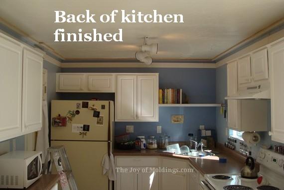kitchen crown molding buildup