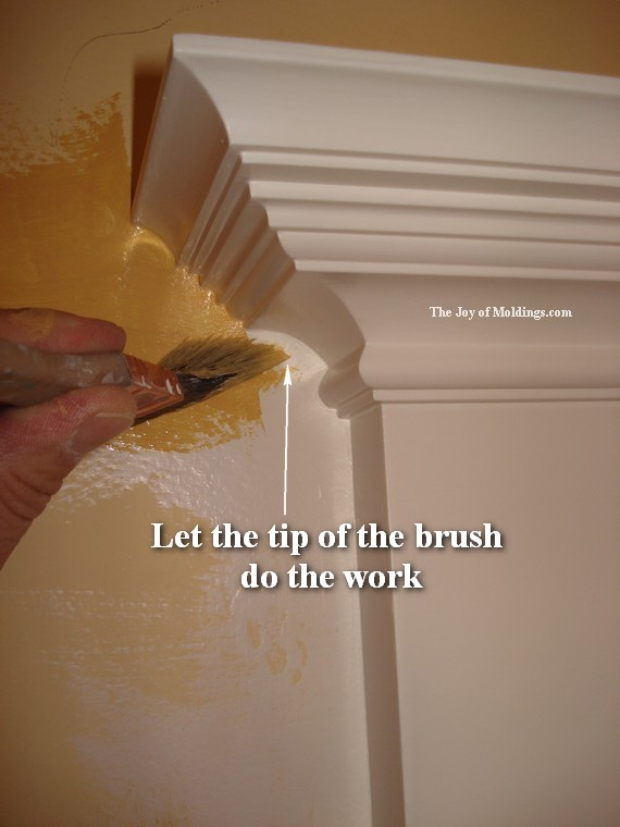 paint a room with moldings
