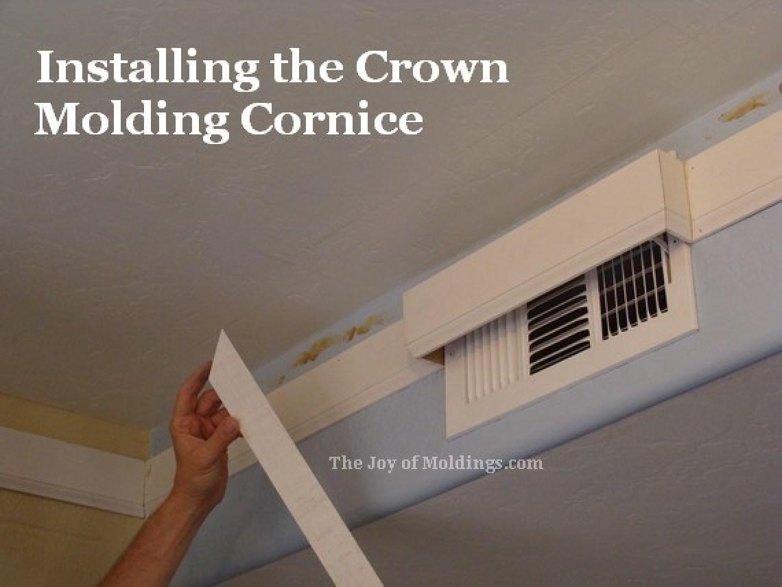 kitchen crown molding buildup cornice detail