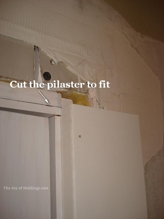 Victorian door trim pilaster how to cut