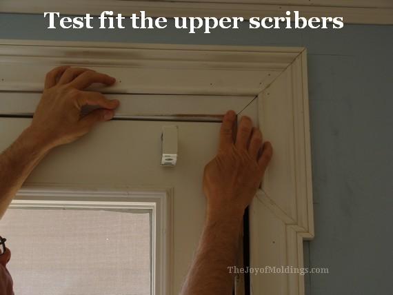 greek revival door trim casing inner scribers