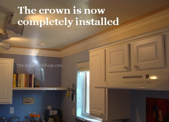 diy kitchen crown molding buildup