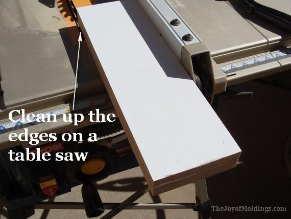 trim the plinth blocks