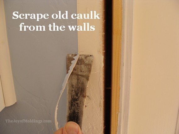 How to install new door trim moldings