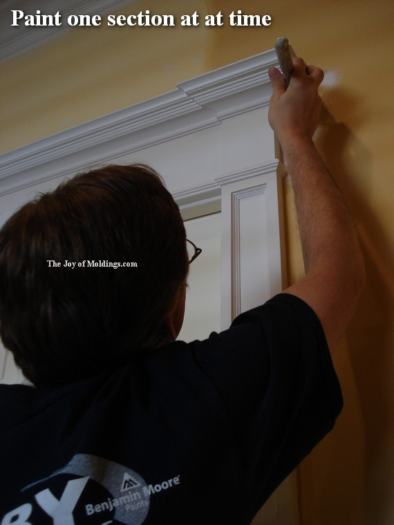 how to paint a victorian door surround header