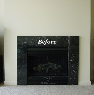 before fireplace without a fireplace mantel