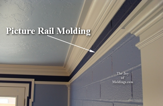 picture rail molding painted white