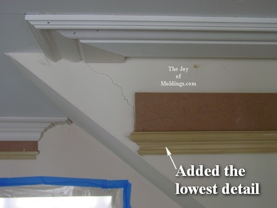 how to instal kitchen crown molding buildup