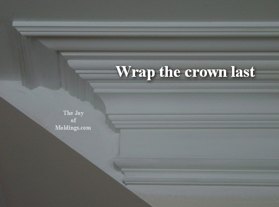 large crown molding return diy