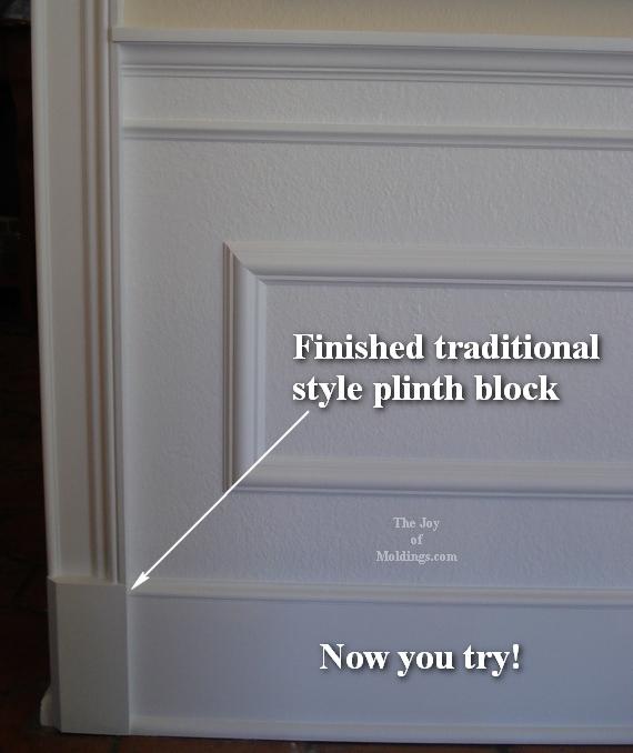 diy door trim molding with plinth block