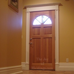 how to build a victorian style door surround