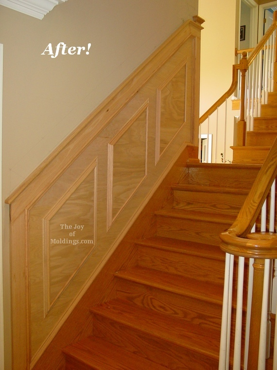 wainscoting oak panels stairs