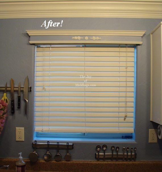 how to paint a window valance box blue