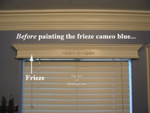 painted window valance cornice box