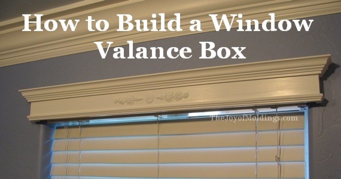 window valance box made from mdf moldings
