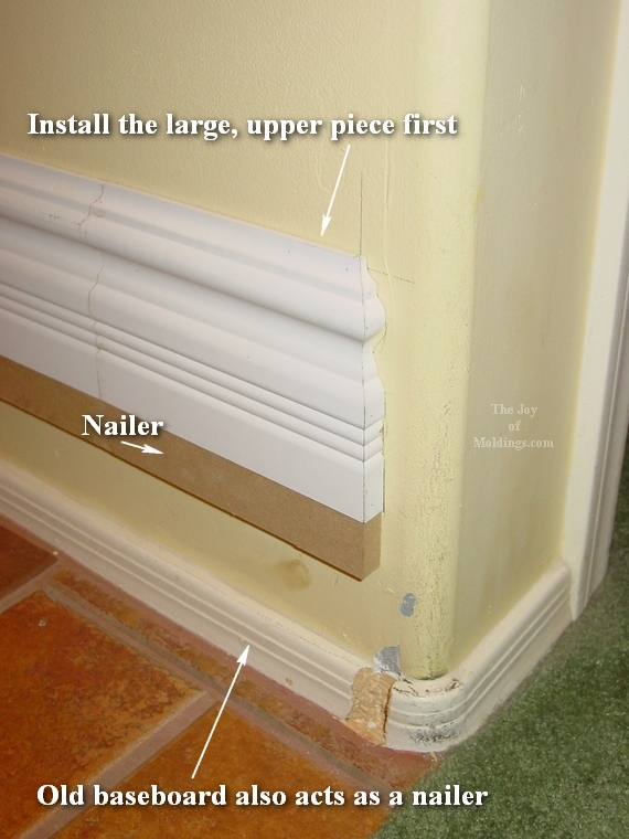 How To Install Large Mdf Baseboard 103 The Joy Of Moldings
