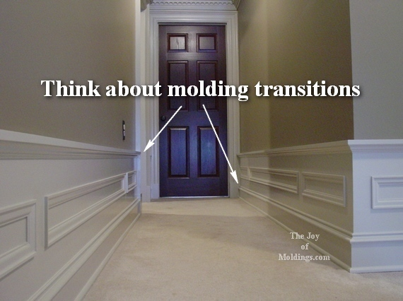 how to install moldings in hallway