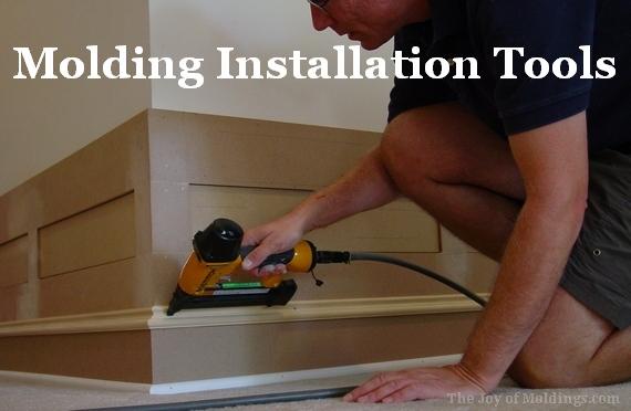 molding trim interior finish carpentry installation tools