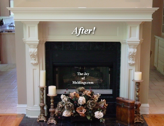 diy fireplace mantel with corbels for great room