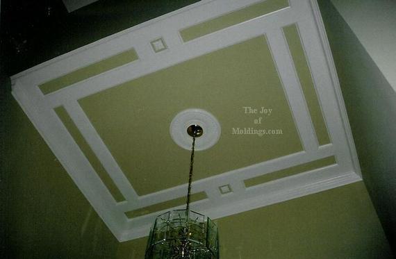 diy mdf coffered ceiling