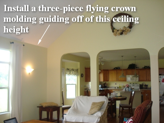 great room molding ideas