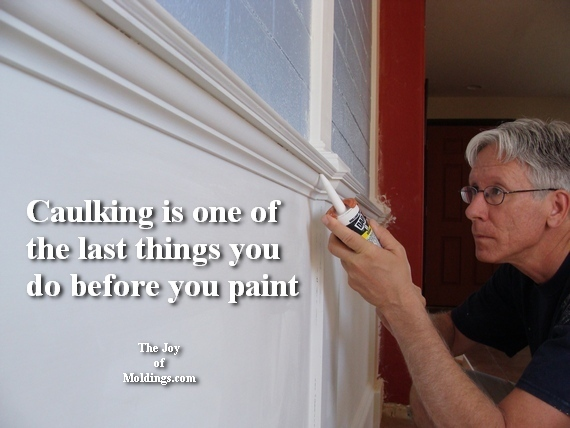 how to caulk moldings