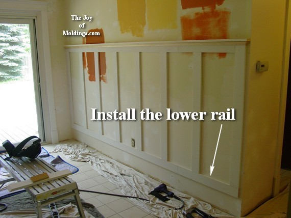 how to install tall kitchen wainscoting