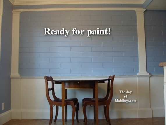 how to install pilasters and wainscoting on brick wall