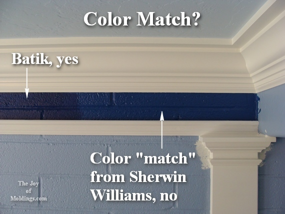 How to match wall colors from different paint manufacturers