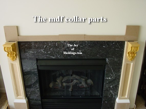 how to build a mdf fireplace mantel